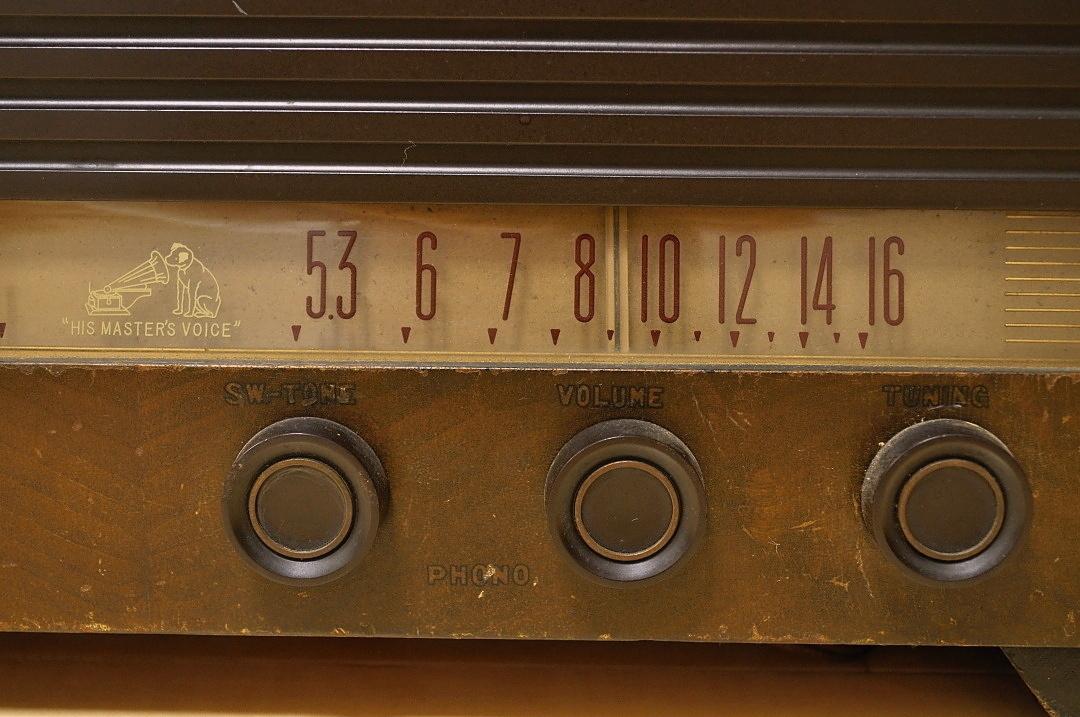 t620 ビクター 真空管 ラジオ VICTOR STANDARD BROADCAST 不動 ジャンク品 _画像4