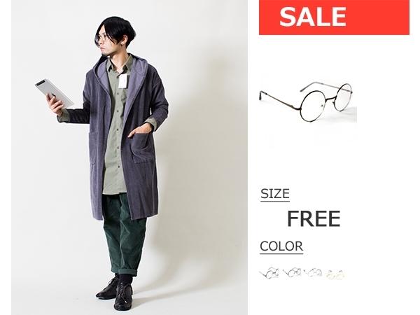 【 送料無料 】 初売り セール 96%オフ] メタルフレーム 丸メガネ ◆ 茶 ◆ FREE / メンズ 新品 未使用 / メタル メガネ レトロデザイン