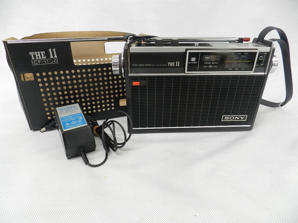 T08-0112 SONY ソニー ソリッドステート 3バンドラジオ THE11 ICF-1100 FM/MW/SW ジャンク品