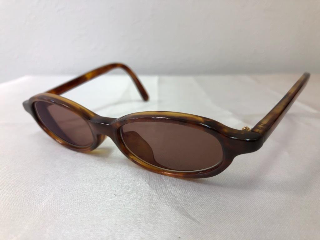 1円~ べっ甲 丁番 K18刻印 YG 約24.5g メガネ 度入りレンズ 眼鏡 鼈甲 特注品 ケース付