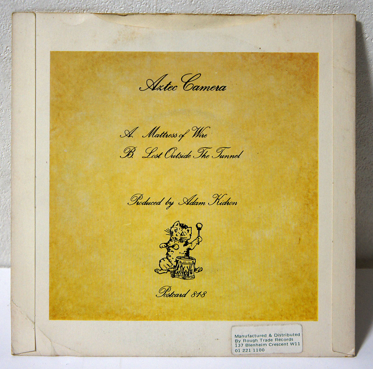 【送料無料】超レア★日本未発売★廃盤★81年 UK Postcard オリジナル 7'' AZTEC CAMERA Mattress Of Wire_画像5