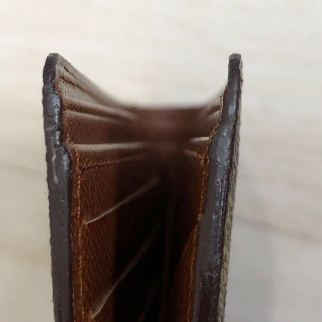 未使用品 LOUIS VUITTON ルイヴィトン M60895 モノグラム「ポルトフォイユ ミュルティプル」二つ折り 札入れ 財布 メンズ フランス製_サイド上部