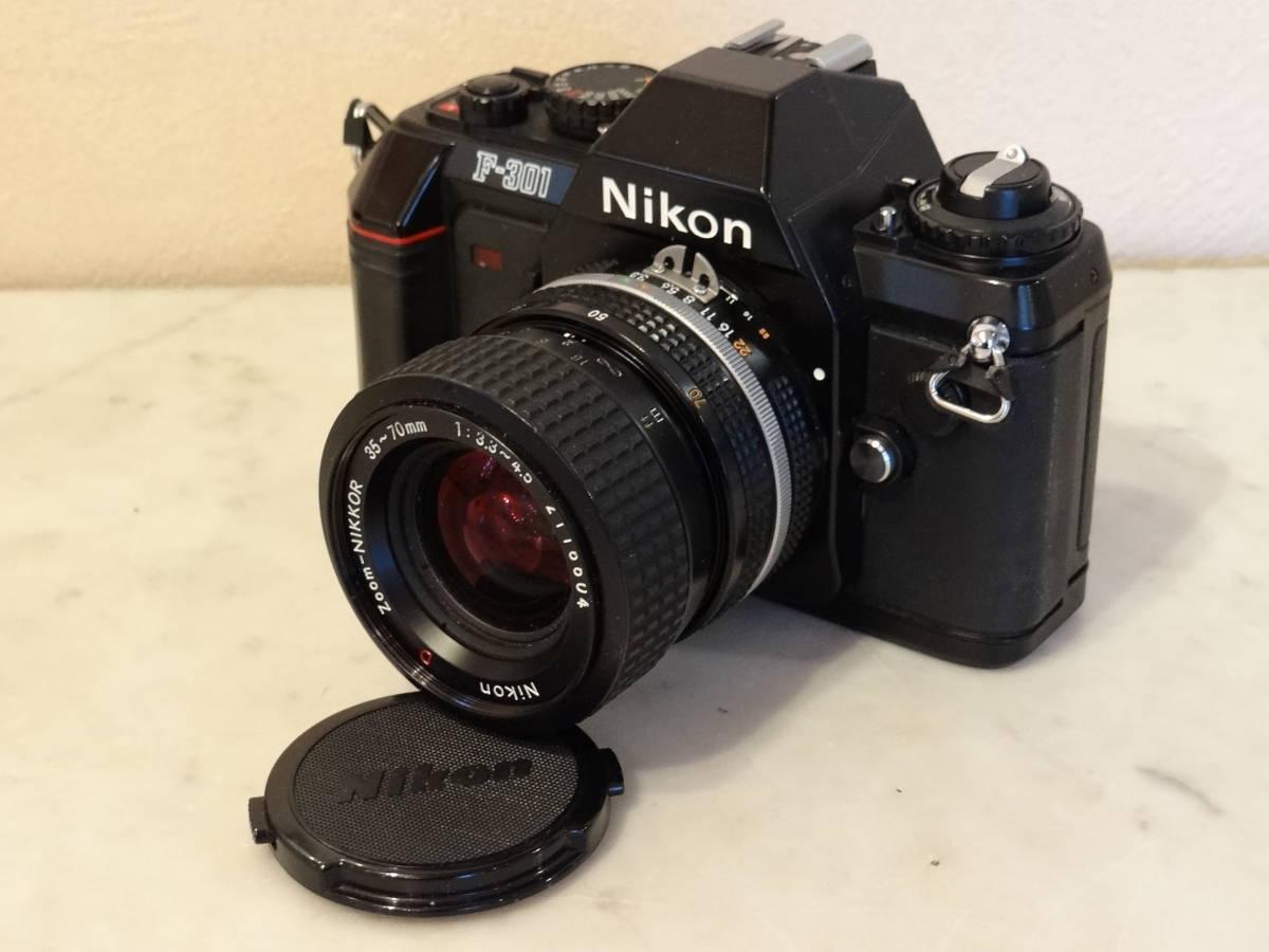 Nikon F-301 使用頻度極めて少ない!正常動作品・ オーバーホール済み・ シャッター正確!  傷なし美品!!