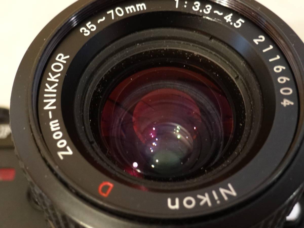 Nikon F-301 使用頻度極めて少ない!正常動作品・ オーバーホール済み・ シャッター正確!  傷なし美品!!_画像6