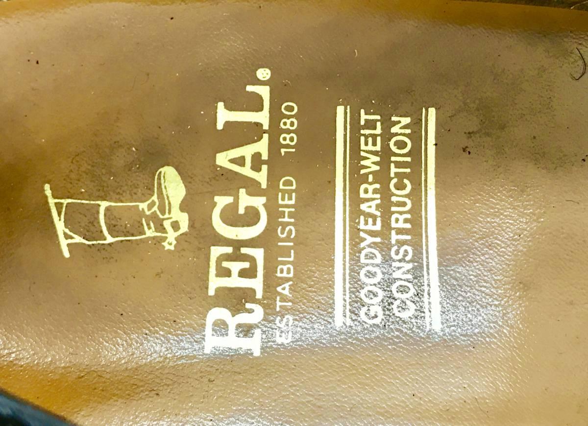 【即決】REGAL★24.5cm レザービジネスシューズ 茶 ウィングチップ 革靴 リーガル 本皮 メンズ 皮靴 タッセルローファー 本革 ドレス 2575_画像6