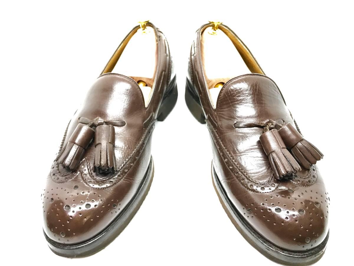 【即決】REGAL★24.5cm レザービジネスシューズ 茶 ウィングチップ 革靴 リーガル 本皮 メンズ 皮靴 タッセルローファー 本革 ドレス 2575_画像3