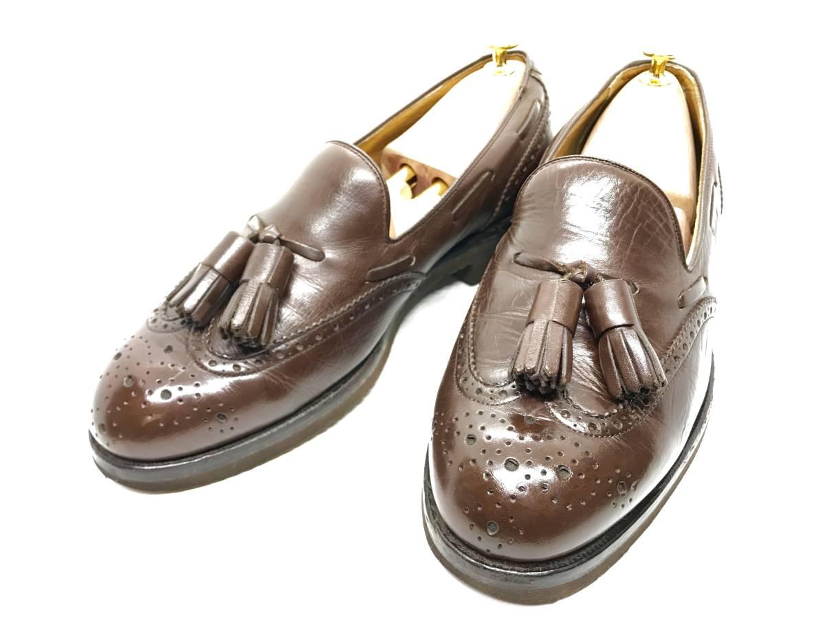 【即決】REGAL★24.5cm レザービジネスシューズ 茶 ウィングチップ 革靴 リーガル 本皮 メンズ 皮靴 タッセルローファー 本革 ドレス 2575_画像1