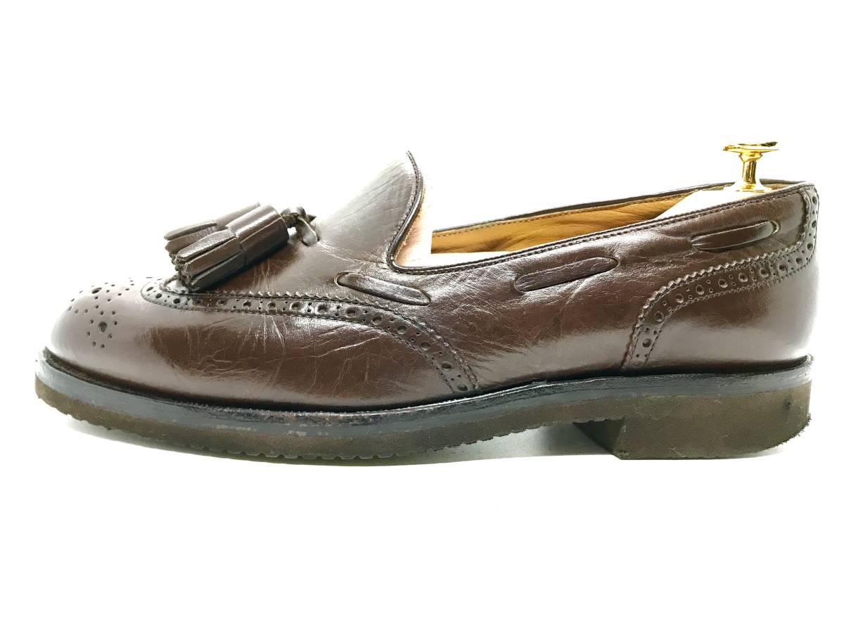 【即決】REGAL★24.5cm レザービジネスシューズ 茶 ウィングチップ 革靴 リーガル 本皮 メンズ 皮靴 タッセルローファー 本革 ドレス 2575_画像4