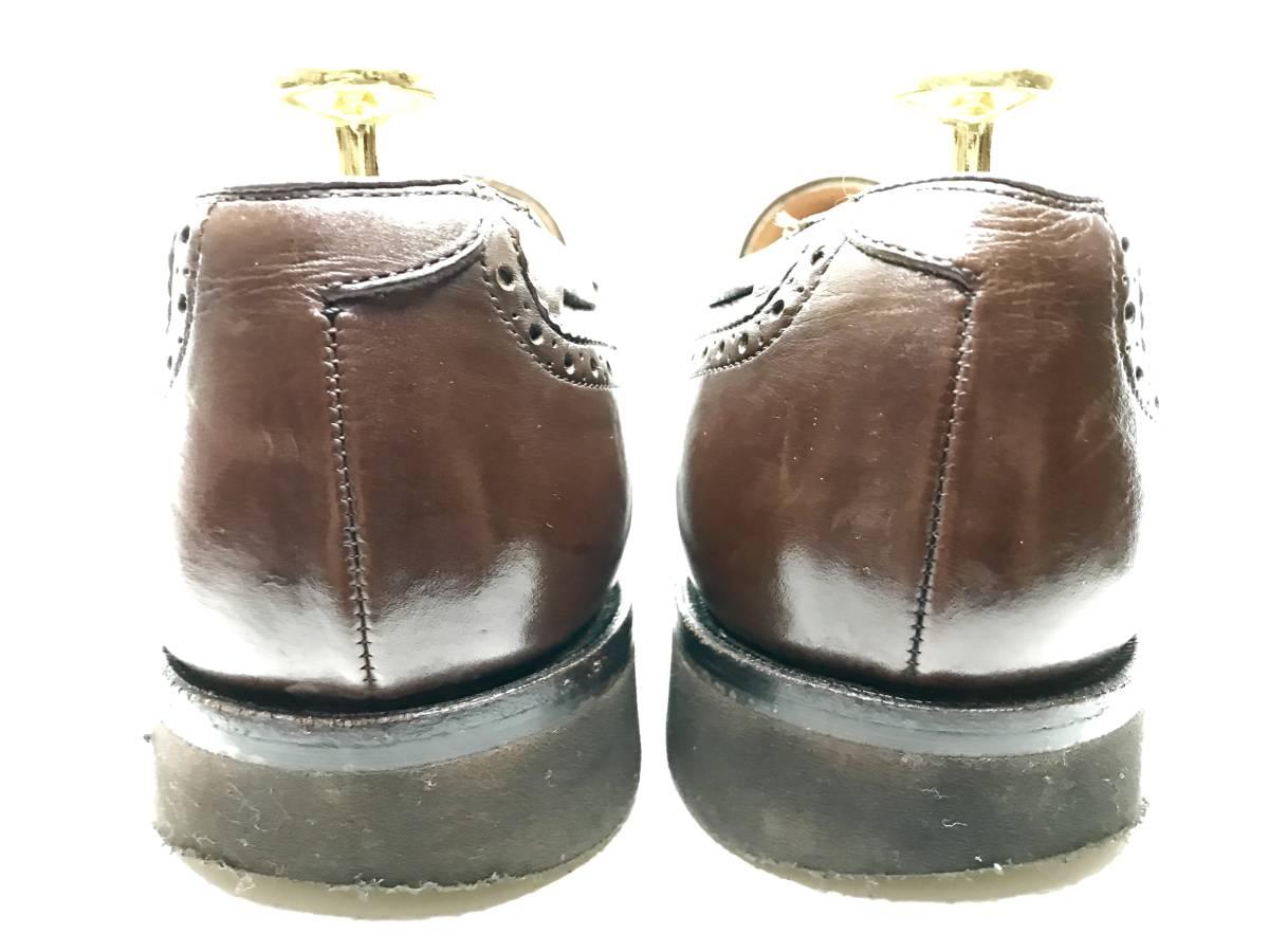 【即決】REGAL★24.5cm レザービジネスシューズ 茶 ウィングチップ 革靴 リーガル 本皮 メンズ 皮靴 タッセルローファー 本革 ドレス 2575_画像2