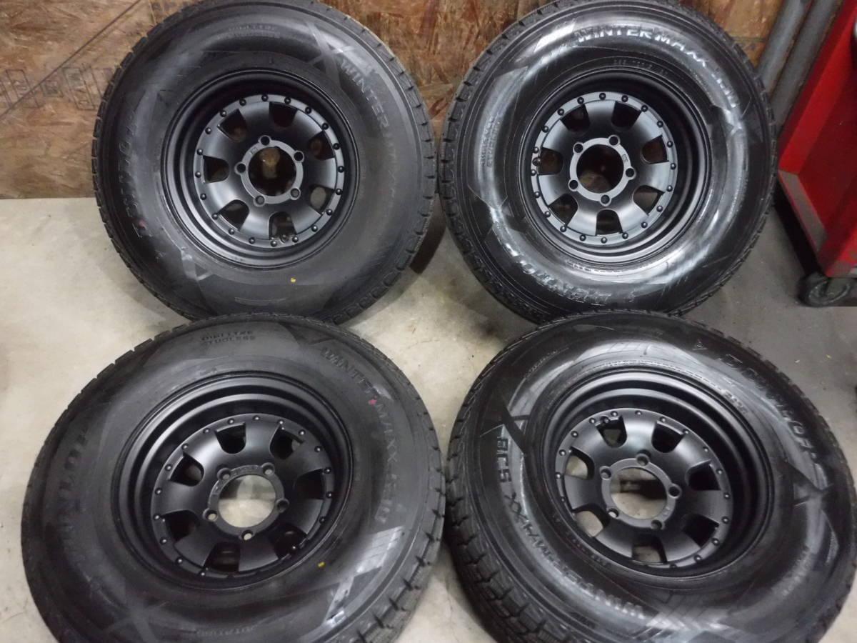 【 JIMNY 】WORK глубокий обод  алюминиевый диск & Dunlop SJ8 зимняя резина   4 штуки  ... подъём  для