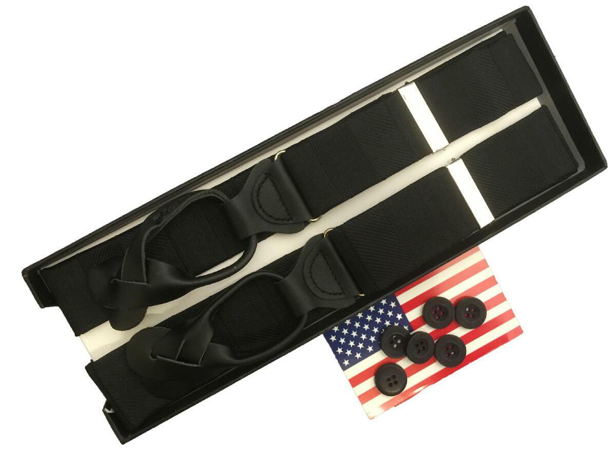 サスペンダー メンズ 紳士 米国 Y型 Yバック ポールフレドリック PaulFredrick シルクブレイス ウーヴェン Woven Black ブラック 黒 B302_b302