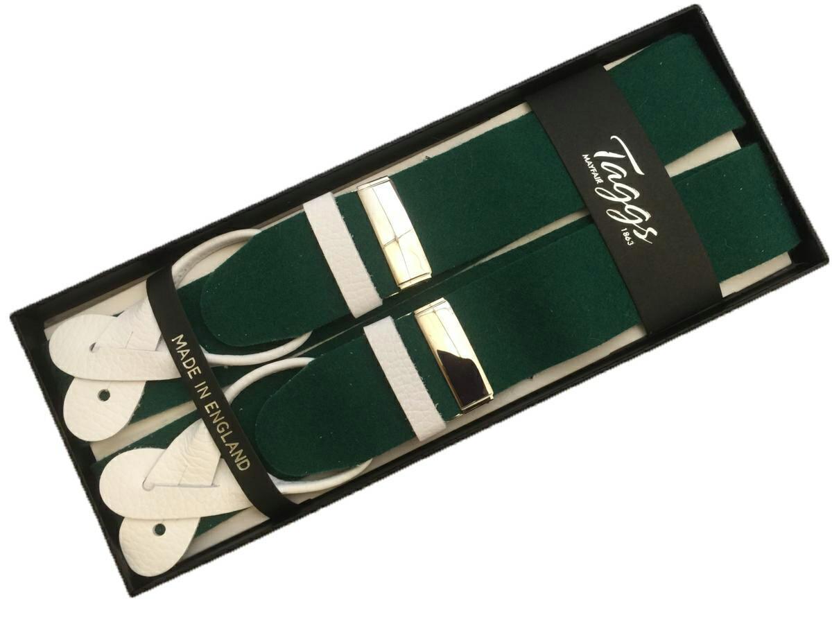 サスペンダー ブレイス X型 Xバック メンズ 紳士 英国製 Taggs タッグス アルバートサーストン OEM ボックスクロス BOX WT Green SL B005_b005