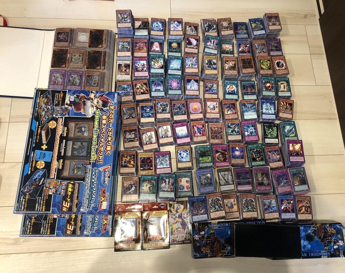遊戯王 引退 まとめ売り スーパーレア以上 数千枚以上 デッキ 総枚数約1万枚 段ボール3