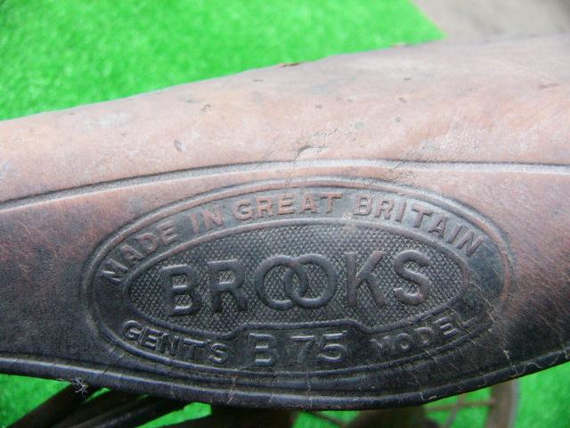 希少? BROOKS ブルックス GENTS B75 MODEL アンティーク レトロ 年代物 三輪車 鉄製 _画像4