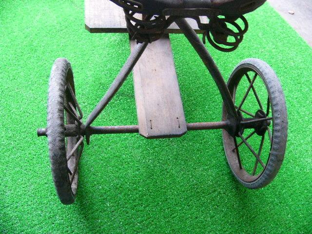 希少? BROOKS ブルックス GENTS B75 MODEL アンティーク レトロ 年代物 三輪車 鉄製 _画像7