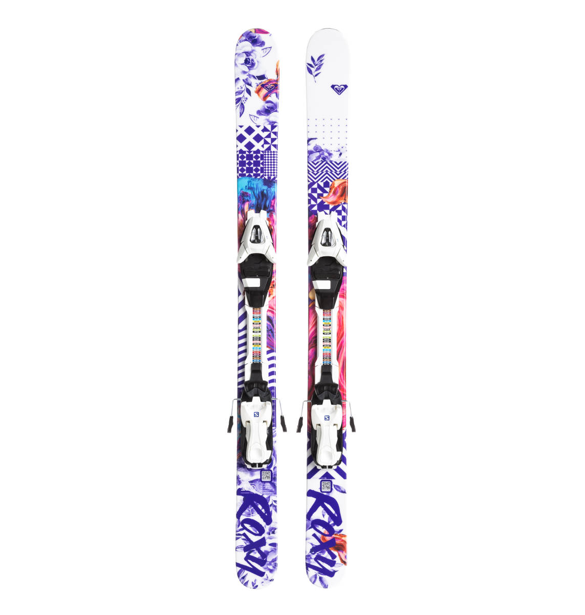 ROXY by Salomon ロキシー サロモン キッズ用 スキー板 BELLA C5 ビンディング ROXY C5 J75付 110cm_画像1