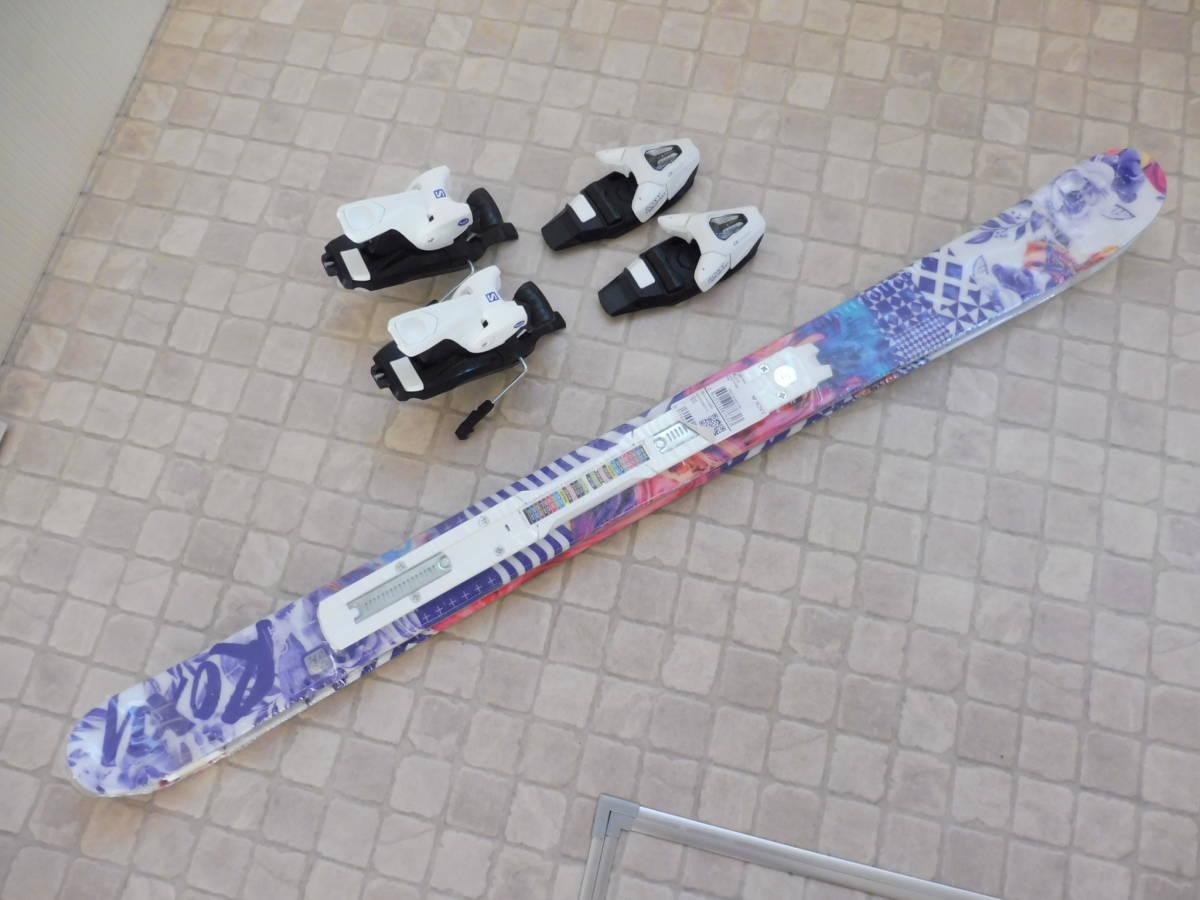 ROXY by Salomon ロキシー サロモン キッズ用 スキー板 BELLA C5 ビンディング ROXY C5 J75付 110cm_画像5