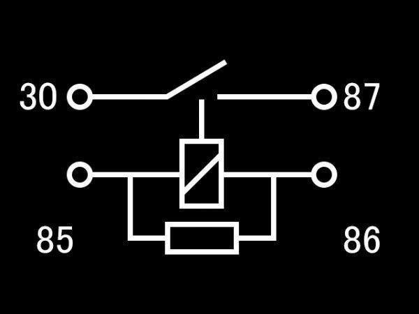 【W-4PR】4極リレー 4ピン 車載リレー 防水 A接点リレー 送料290円~ DC12V 検) ハザード フォグ エーモン 2898 代用 修理_画像6