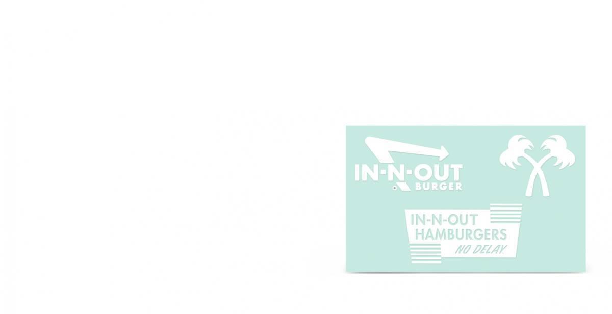 ◆新品US正規インアンドアウトバーガー【In-N-Out Burger】3点ステッカー・シート限定出品◆_画像6