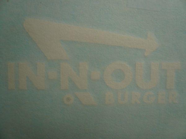 """◆新品US正規インアンドアウトバーガー【In-N-Out Burger】3点ステッカー・シート限定出品◆_Logo 4.5"""" X 2.25"""""""