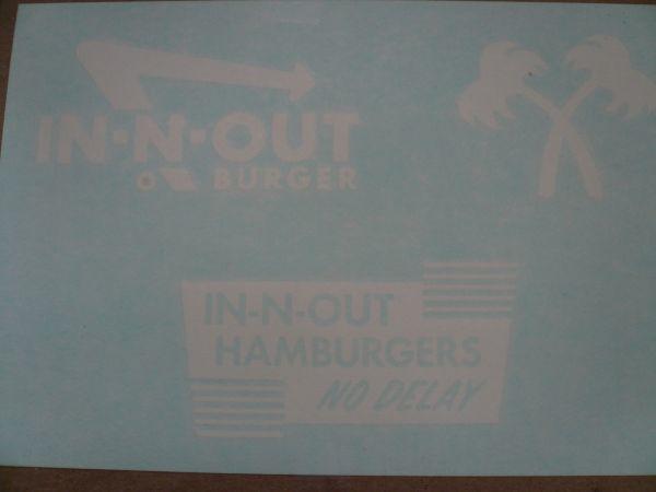 ◆新品US正規インアンドアウトバーガー【In-N-Out Burger】3点ステッカー・シート限定出品◆_3枚1セット