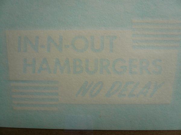 """◆新品US正規インアンドアウトバーガー【In-N-Out Burger】3点ステッカー・シート限定出品◆_Sign: 4.5"""" X 2.25"""""""