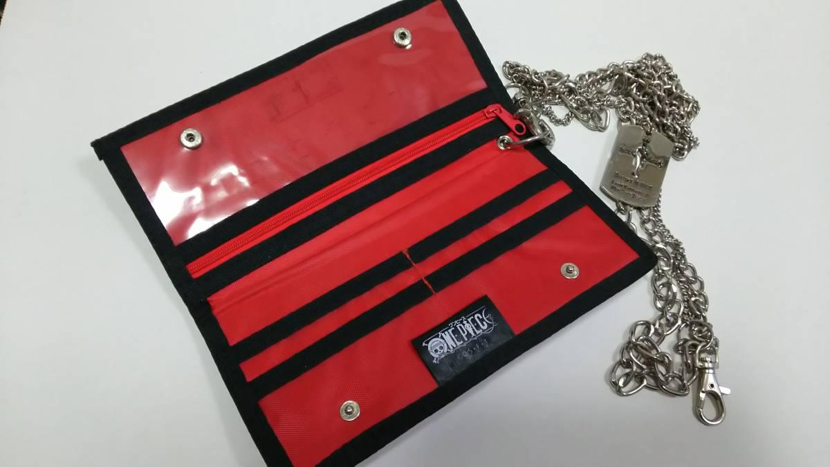 ワンピース ONEPIECE ポートガスDエース ウォレットチェーン付きウォレット レッド 長財布 未使用品_画像2