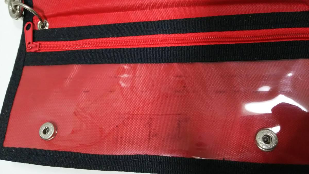 ワンピース ONEPIECE ポートガスDエース ウォレットチェーン付きウォレット レッド 長財布 未使用品_画像3