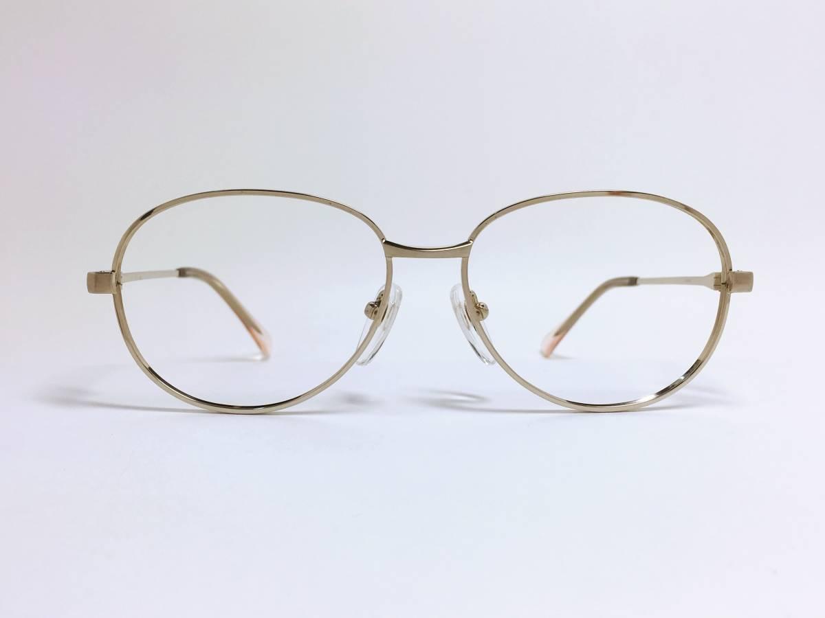 ヴィンテージ 小さめ メガネ ★ ゴールド フレーム ★ 金色 メガネフレーム_画像2
