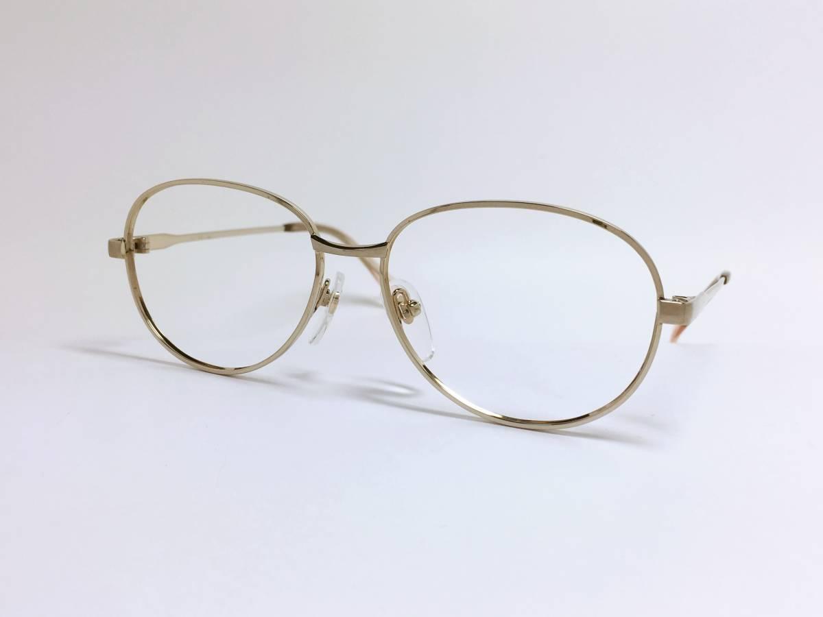 ヴィンテージ 小さめ メガネ ★ ゴールド フレーム ★ 金色 メガネフレーム_画像3