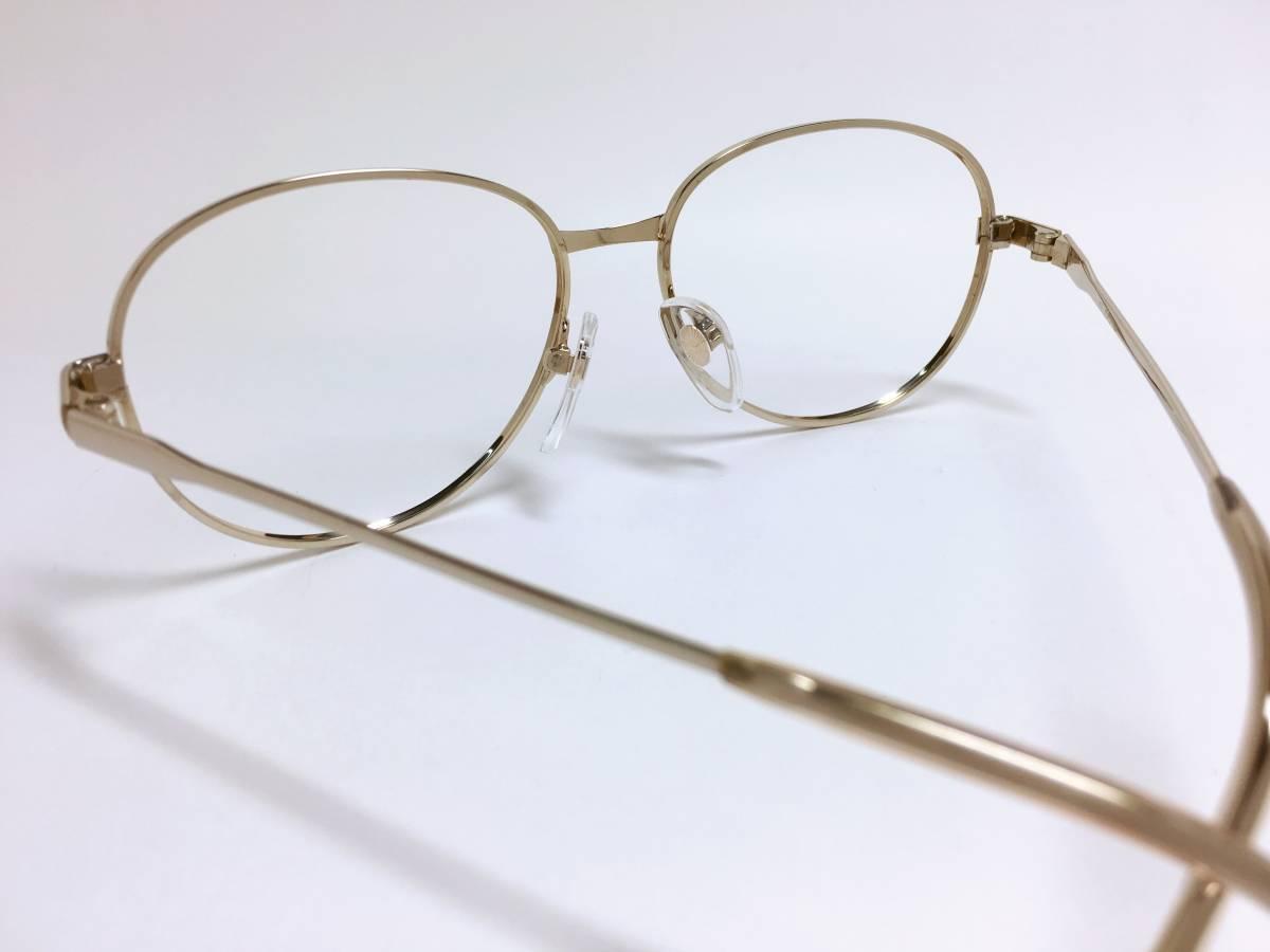ヴィンテージ 小さめ メガネ ★ ゴールド フレーム ★ 金色 メガネフレーム_画像5