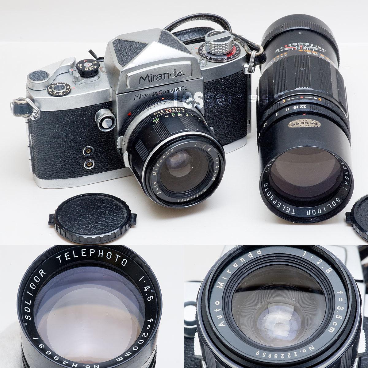 Miranda D Auto Miranda 1:2.8 f=3.5cm SOLIGOR TELEPHOTO 1:4.5 f=200mm