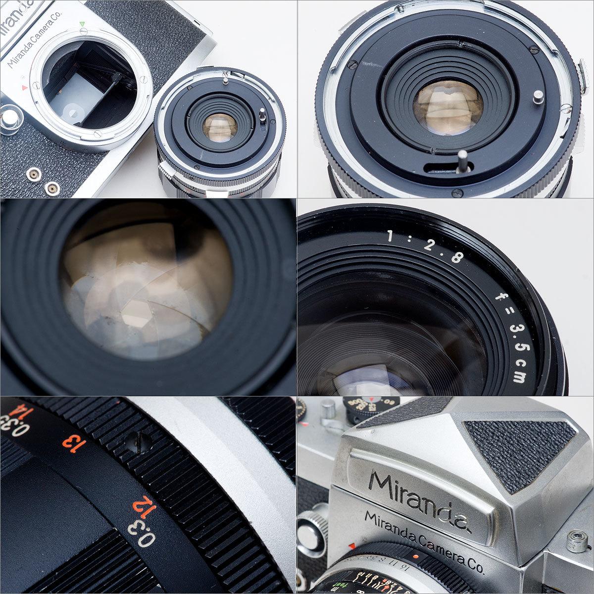 Miranda D Auto Miranda 1:2.8 f=3.5cm SOLIGOR TELEPHOTO 1:4.5 f=200mm _画像6