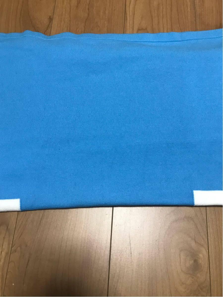 新品未使用 青×白M GU×KIM JONES カラーブロックタートルセーター(KJ) KJ ブルー×ホワイト ジーユー×キム・ジョーンズ 元ヴィトン_画像8