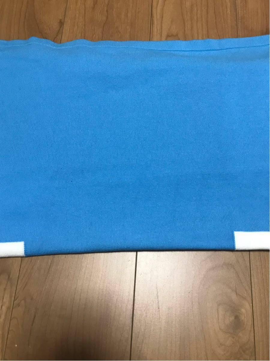 新品未使用 青×白 L GU×KIM JONES カラーブロックタートルセーター(KJ) KJ ブルー×ホワイト ジーユー×キム・ジョーンズ 元ヴィトン_画像7