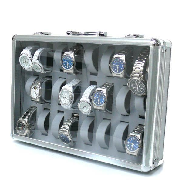 ◆即決◆アルミ製腕時計ケース 24個収納 鍵付