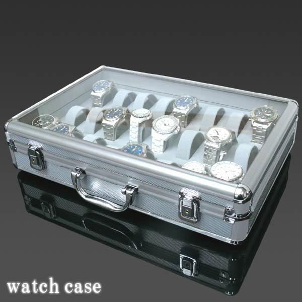 ◆即決◆アルミ製腕時計ケース 24個収納 鍵付_画像2