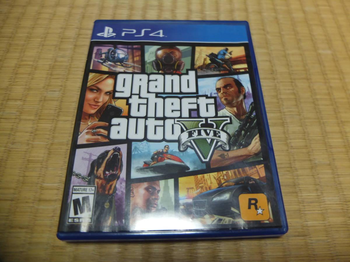 PS4 Grand Theft Auto V グランドセフトオート5 GTA5 北米版 マップ付き