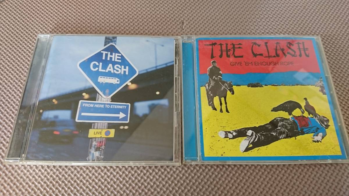 *THE CLASH (ザ・クラッシュ)『FROM HERE TO ETERNITY』『GIVE 'EM ENOUGH ROPE』アルバム2枚セット