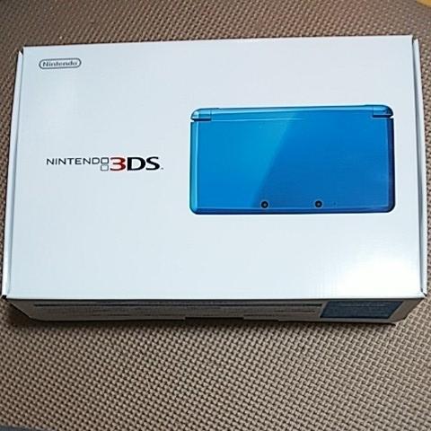 美品 3DS 本体 ライトブルー 新品同様品