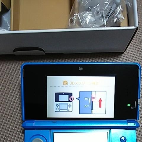 美品 3DS 本体 ライトブルー 新品同様品_画像7