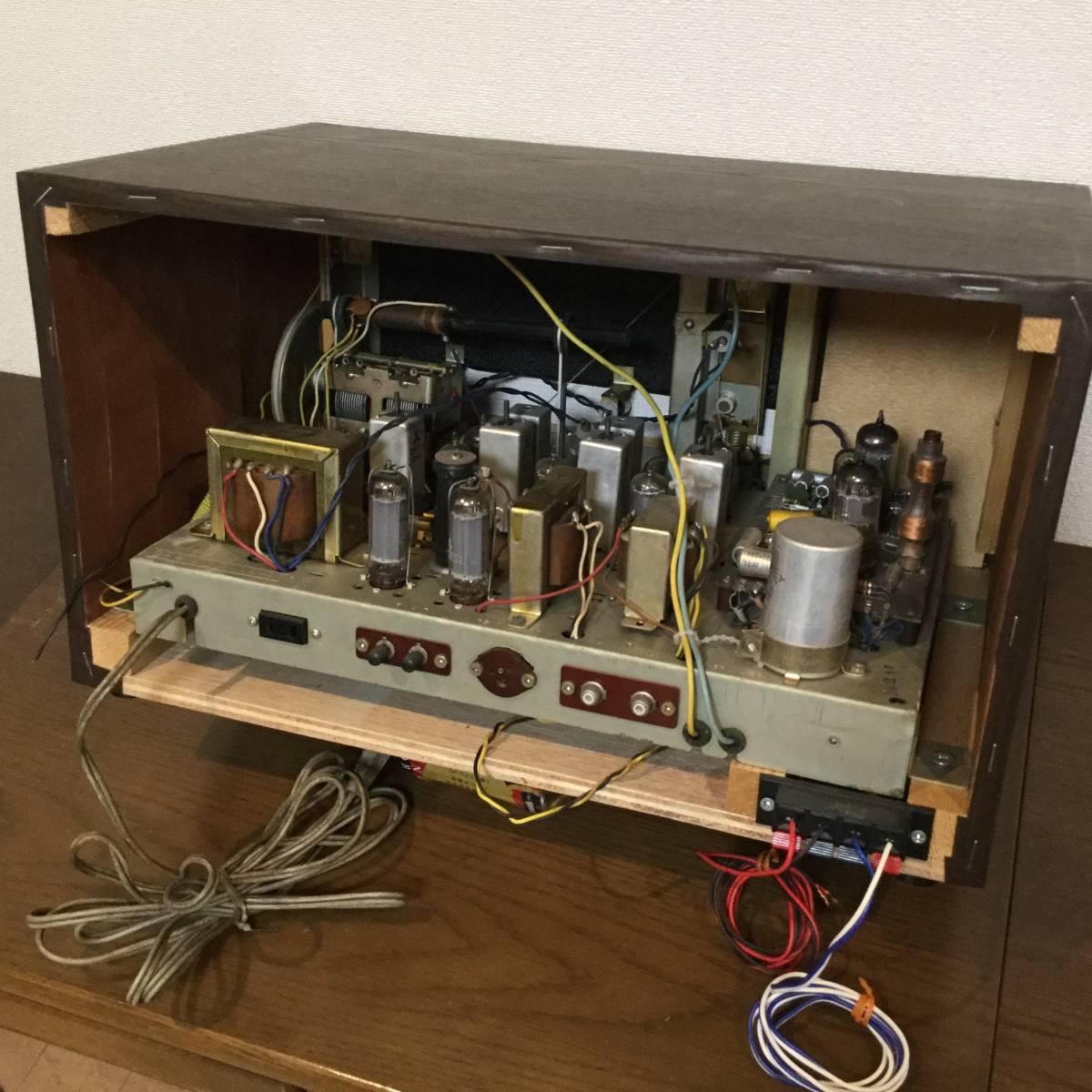三菱 AM/SW/FM真空管ステレオラジオアンプ 整備済みジャンク_画像6