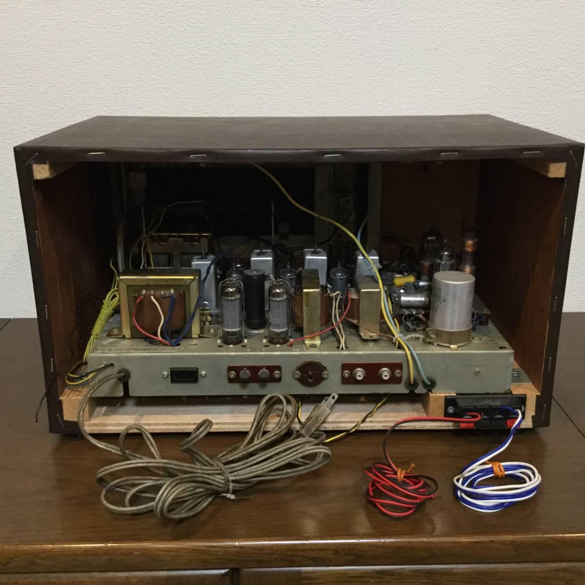 三菱 AM/SW/FM真空管ステレオラジオアンプ 整備済みジャンク_画像5