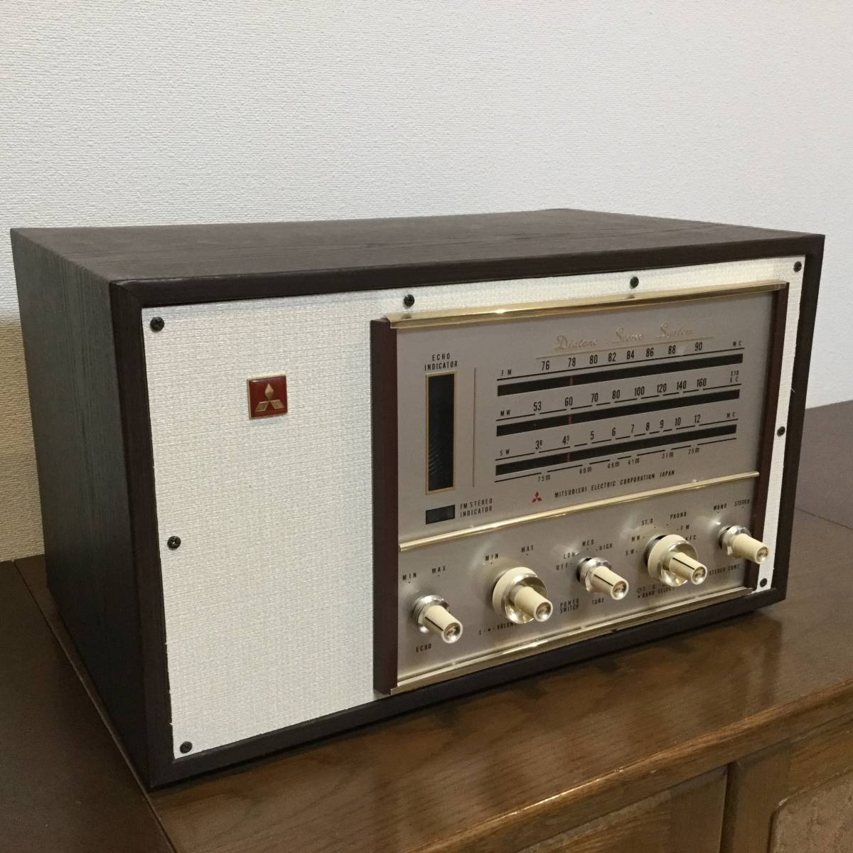 三菱 AM/SW/FM真空管ステレオラジオアンプ 整備済みジャンク_画像3