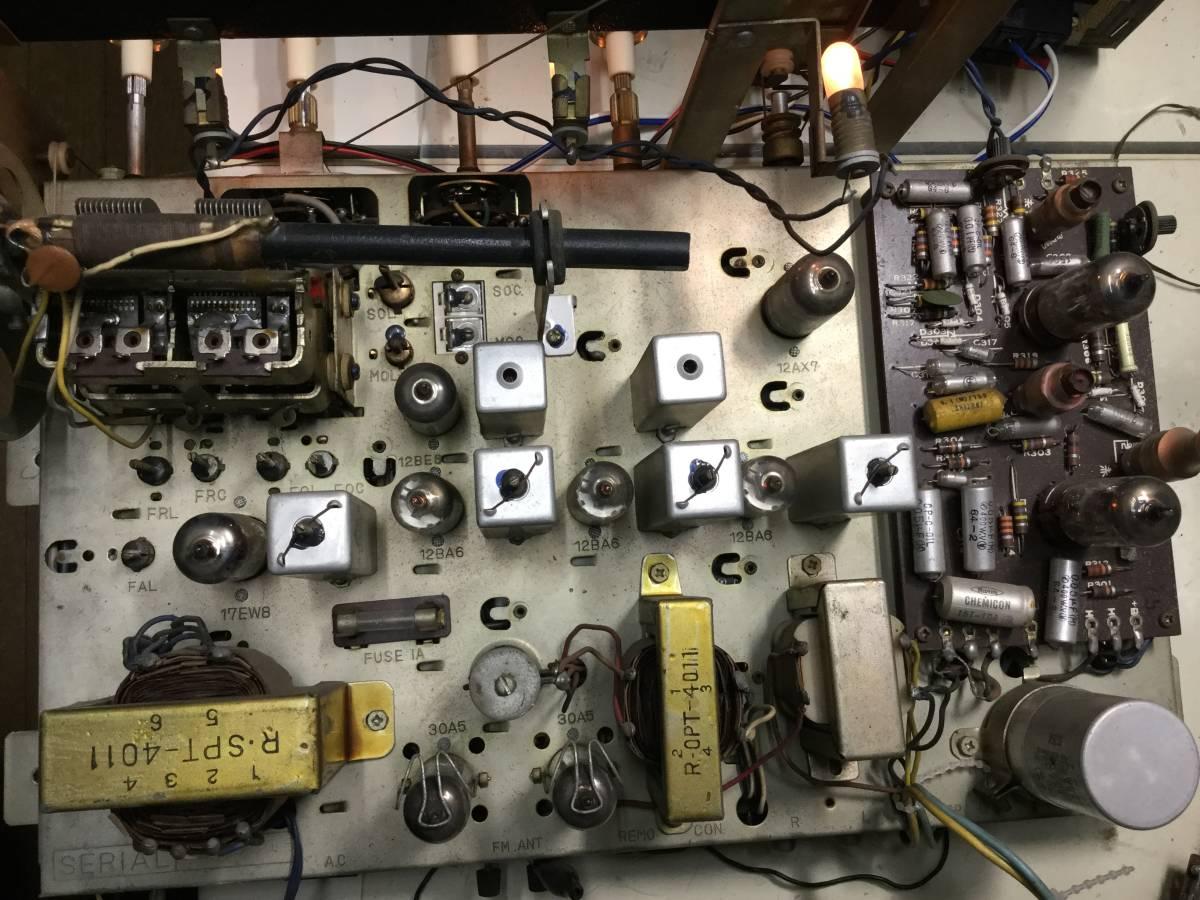 三菱 AM/SW/FM真空管ステレオラジオアンプ 整備済みジャンク_画像7