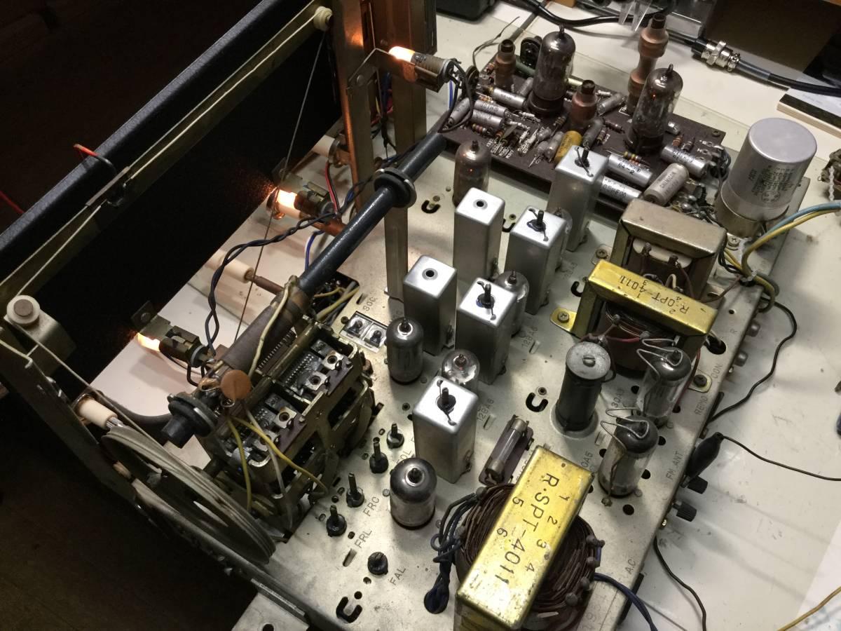 三菱 AM/SW/FM真空管ステレオラジオアンプ 整備済みジャンク_画像8