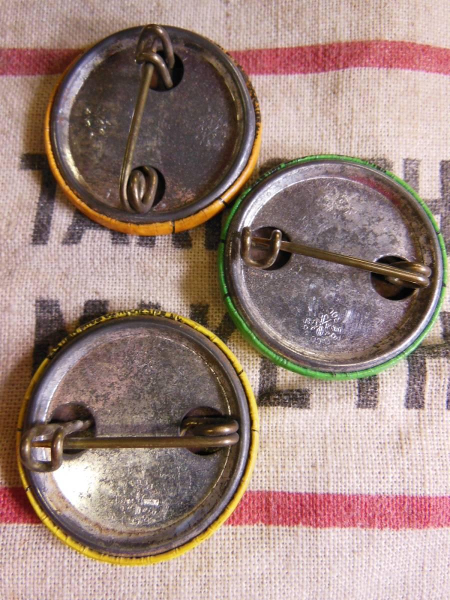 ⑤1961年 ビンテージ 3個セット ENGINEERS UNION (IUOE) 缶バッジ /ユニオンメイド/30S40S50S/ワーカー/ワークウェアー_画像2