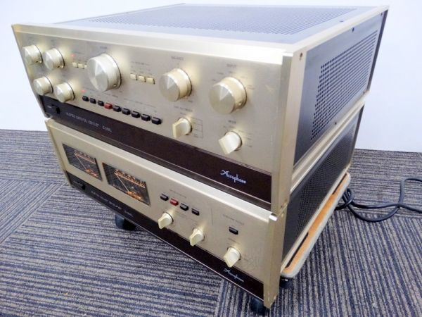 Accuphase P-300L パワーアンプ C-200L コントロールアンプ セット Y1067*