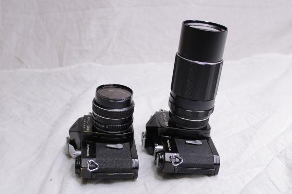 ジャンク PENTAX ASAHI SPOTMATIC SP 一眼レフカメラ2台 レンズ3本 黒 SMC Takumar 1:1.8/55 Super-Multi-Coated 1:4/200 TAKUMAR 1:1.4/50_画像10