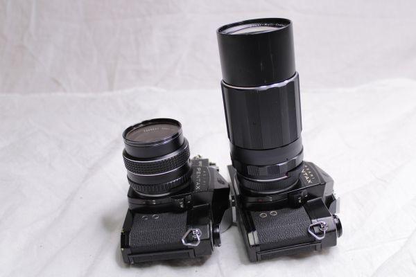 ジャンク PENTAX ASAHI SPOTMATIC SP 一眼レフカメラ2台 レンズ3本 黒 SMC Takumar 1:1.8/55 Super-Multi-Coated 1:4/200 TAKUMAR 1:1.4/50_画像8